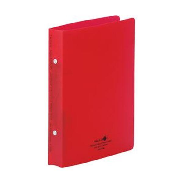 (まとめ)リヒトラブ AQUA DROPsリングファイル(ツイストリング)A5タテ 2穴 150枚収容 背幅32mm 赤 F-5006-3 1冊【×50セット】