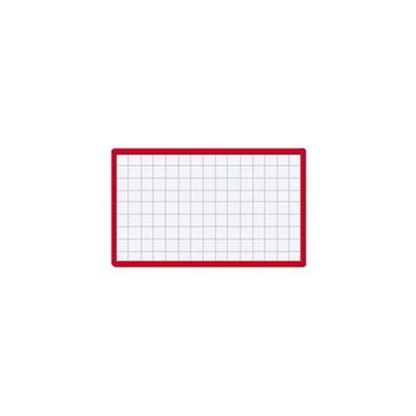 (まとめ)コクヨ マグネット見出し 43×74mm赤 マク-403R 1セット(10個)【×10セット】