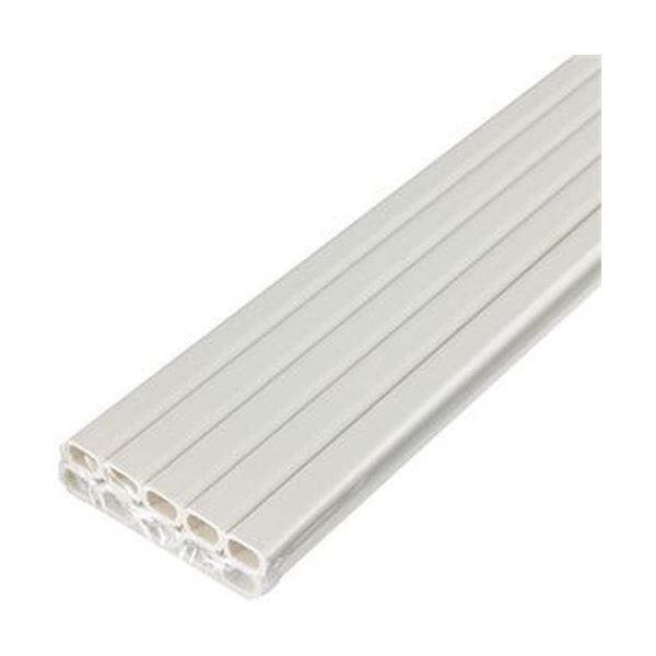(まとめ)ELPA テープ付ABSモール 1号1m ミルキー M-T1110P(M)1パック(10本)【×5セット】