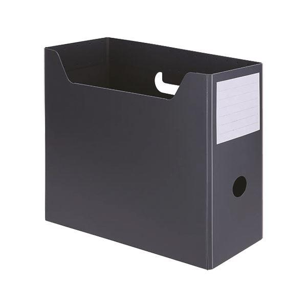 (まとめ) TANOSEEPP製ボックスファイル(組み立て式) A4ヨコ グレー 1個 【×50セット】