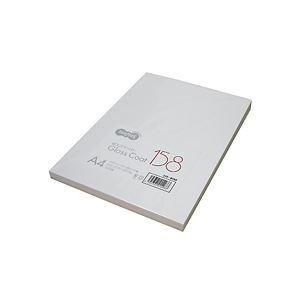 (まとめ) TANOSEE αエコグロスコート158 A4 158g 1冊(100枚) 【×10セット】