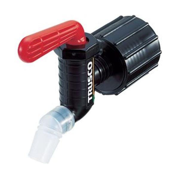 (まとめ)TRUSCO 樹脂製給油コックキューちゃん 口径40 フッ素ゴム 赤 QC-40-FKM-R 1個【×3セット】