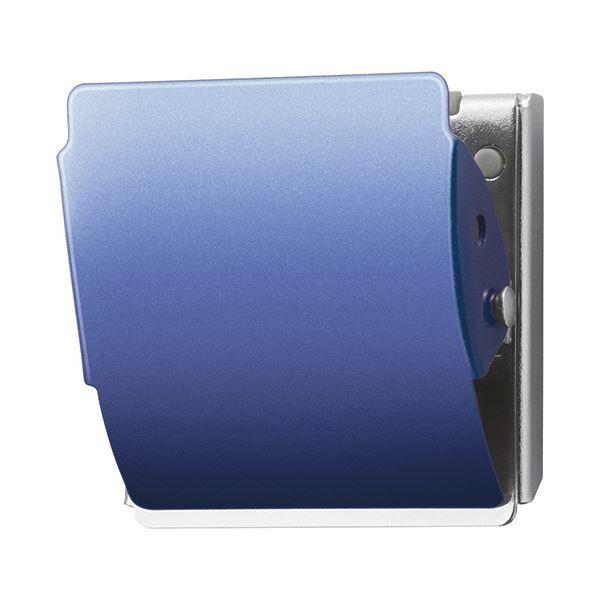 (まとめ) プラス マグネットクリップ ホールド Lブルー CP-047MCR 1個 【×30セット】