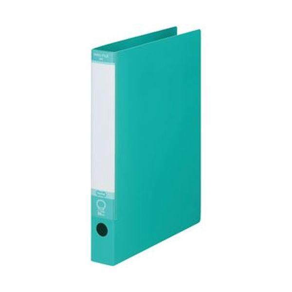 (まとめ)TANOSEE ワンタッチ開閉Oリングファイル A4タテ 2穴 220枚収容 背幅40mm グリーン 1冊【×50セット】