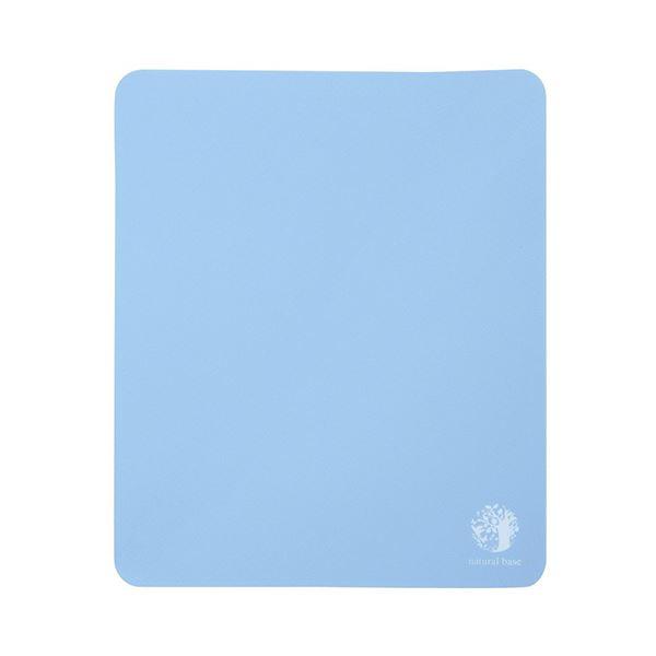 (まとめ) サンワサプライ ベーシックマウスパッド natural base ブルー MPD-OP54BL 1セット(5枚) 【×10セット】
