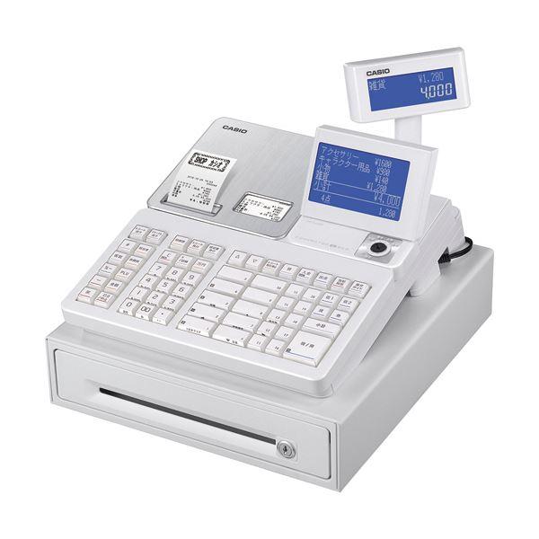 【スーパーセールでポイント最大44倍】カシオ 電子レジスター ホワイトSR-S4000-20SWE 1台