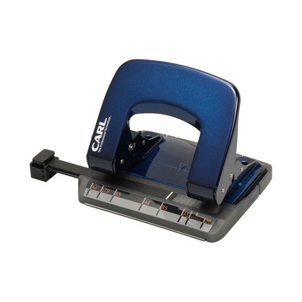 (まとめ)カール事務器 2穴パンチ アリシス LP-20-B ブルー【×30セット】