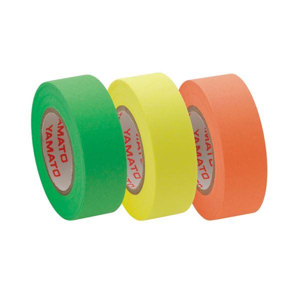 (まとめ) ヤマト メモック ロールテープ つめかえ用 15mm幅 オレンジ&レモン&ライム RK-15H-A 1パック(3巻) 【×30セット】