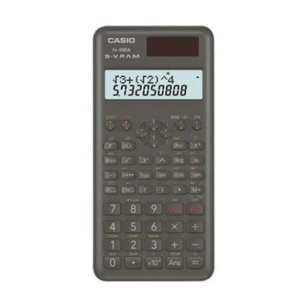 (まとめ)カシオ 関数電卓 10桁2行ハードケース付 FX-290A-N 1台【×5セット】