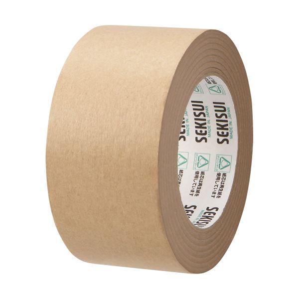 【スーパーセールでポイント最大44倍】(まとめ) 積水化学 クラフトテープ 60mm×50m K51X14 1巻 【×30セット】