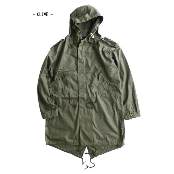アメリカ軍「M-51」青島ライナーモッズコートシェル リバイバルモデル オリーブ《XSサイズ(日本対応サイズL相当)》