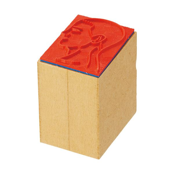 【スーパーセールでポイント最大44倍】ティティメディカル 医学ゴム印 顔・右小判 1個 【×10セット】