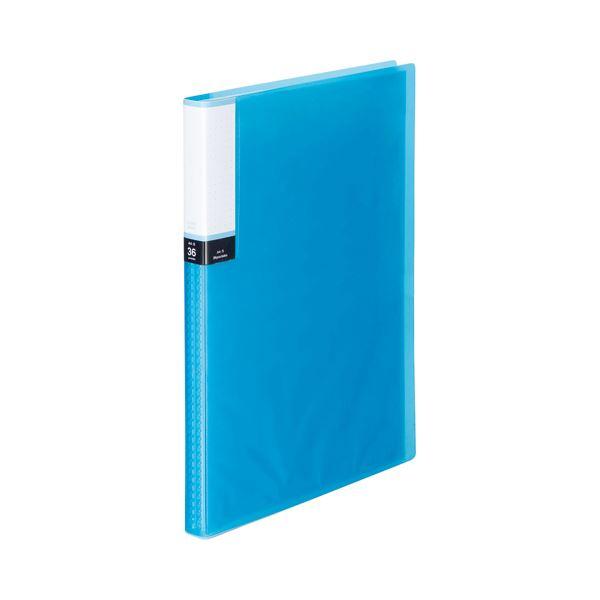 【スーパーセールでポイント最大44倍】(まとめ) TANOSEE クリアブック(透明表紙) A4タテ 36ポケット 背幅20mm ブルー 1冊 【×30セット】