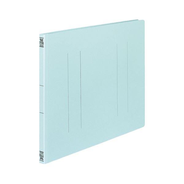 (まとめ) コクヨ フラットファイルV(樹脂製とじ具) A3ヨコ 150枚収容 背幅18mm 青 フ-V48B 1パック(10冊) 【×10セット】