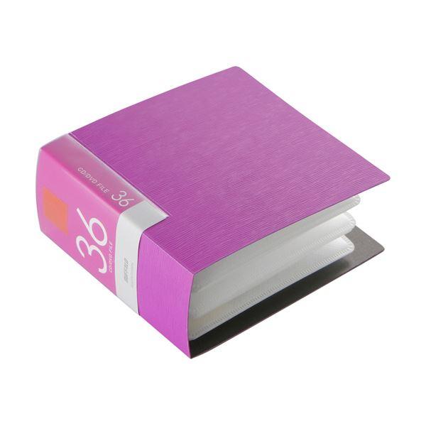 (まとめ) バッファローCD&DVDファイルケース ブックタイプ 36枚収納 ピンク BSCD01F36PK 1個 【×30セット】