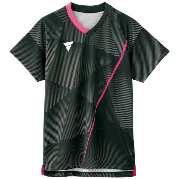 VICTAS(ヴィクタス) 卓球ゲームシャツ V-NGS200 男女兼用 ブラック XL