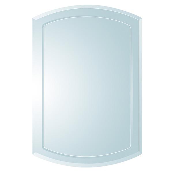 ノンフレーム ウォールミラー/壁掛け鏡 【SUC-017】 飛散防止加工【代引不可】