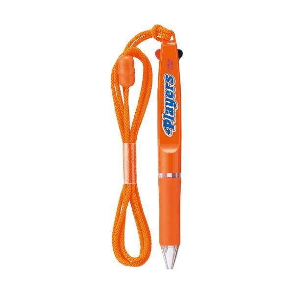 (まとめ) 三菱鉛筆 ストラップ付2色ボールペンプレイヤーズ 0.7mm (軸色 橙) SE382.4 1本 【×30セット】