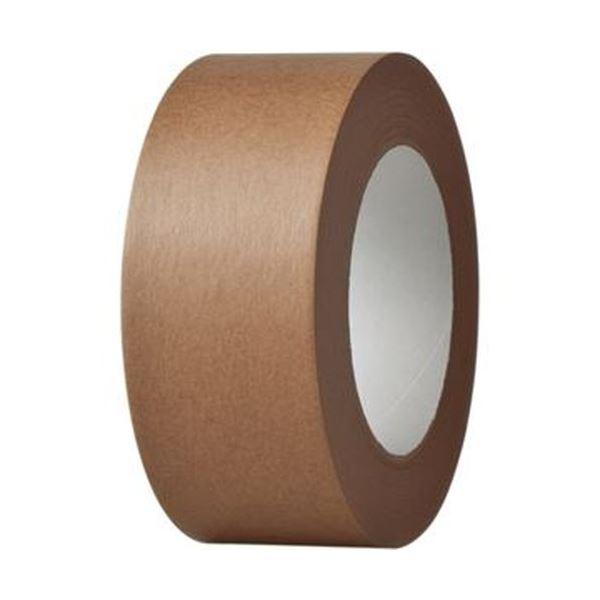 【スーパーセールでポイント最大44倍】(まとめ) TANOSEE クラフトテープ 重ね貼可能 50mm×50m 茶 1巻 【×30セット】