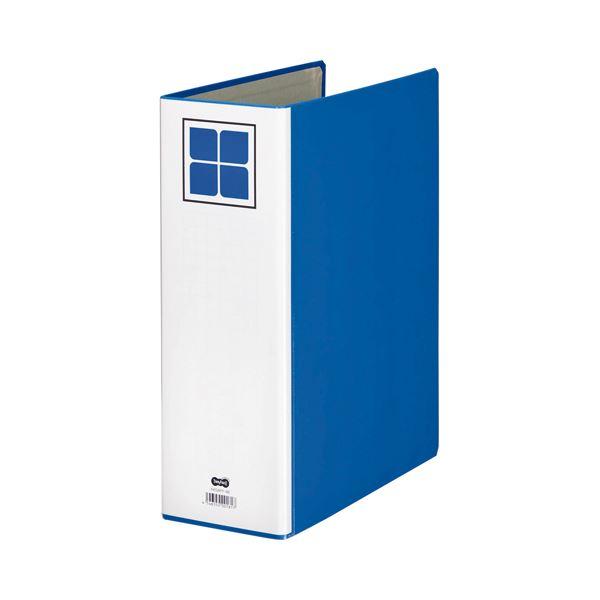 (まとめ) TANOSEE 片開きパイプ式ファイルE A4タテ 800枚収容 背幅106mm 青 1冊 【×30セット】