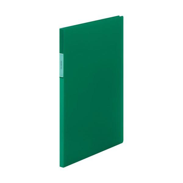 (まとめ) キングジム FAVORITESクリアーファイル(透明) A4タテ 20ポケット 背幅12mm 緑 FV166Tミト 1冊 【×30セット】