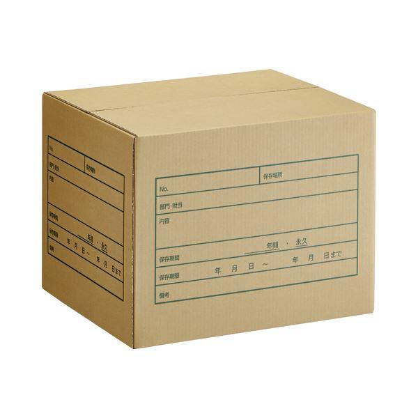 (まとめ) TANOSEE A式文書保存箱 A4・B4用 内寸:W400×D330×H300mm 1パック(10個) 【×5セット】