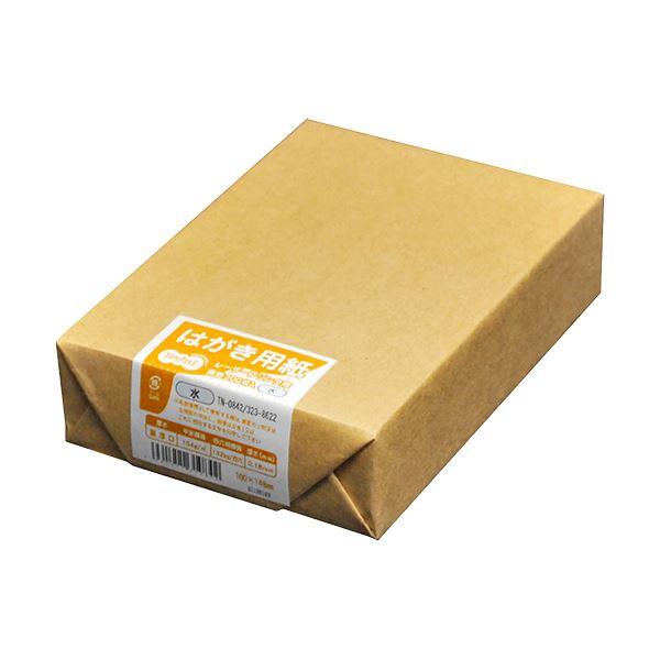 (まとめ) TANOSEE レーザープリンター用 はがきサイズ用紙 水 1冊(200枚) 【×30セット】
