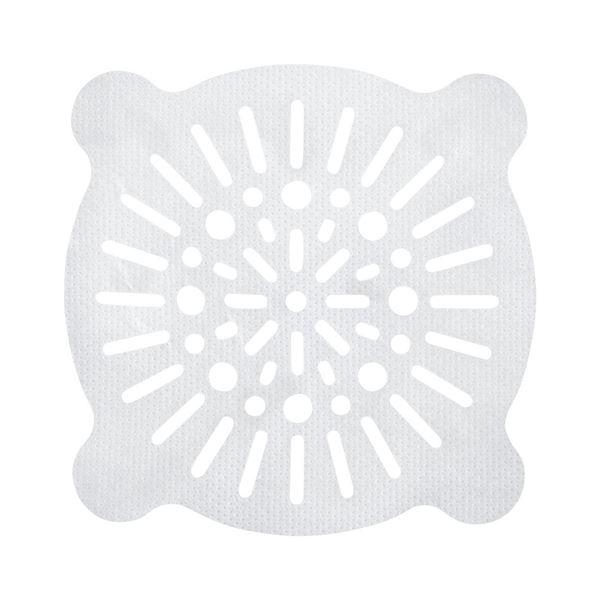 (まとめ)レック 貼ってヘアーストッパー ホワイト 丸小 10枚入 BB-466 (排水口用 フィルター) 【240個セット】