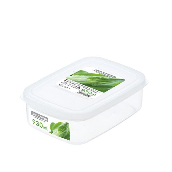 (まとめ) フードケース/保存容器 【Lサイズ】 角型 銀イオンAg+効果 取っ手つき キッチン用品 【×80個セット】
