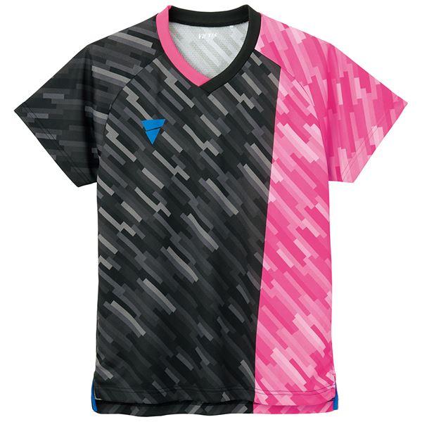 TSP(ティーエスピー) 卓球ウェア ゲームシャツ V-GS920 ピンク 2XS