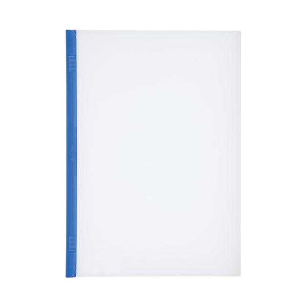 【スーパーセールでポイント最大44倍】(まとめ)LIHITLAB スライドバーファイル G1720-8 青 10冊【×30セット】
