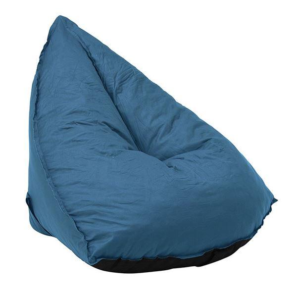 圧縮ソファ(ブルー) 【幅100×奥行100×高さ81×座面高25cm】【代引不可】