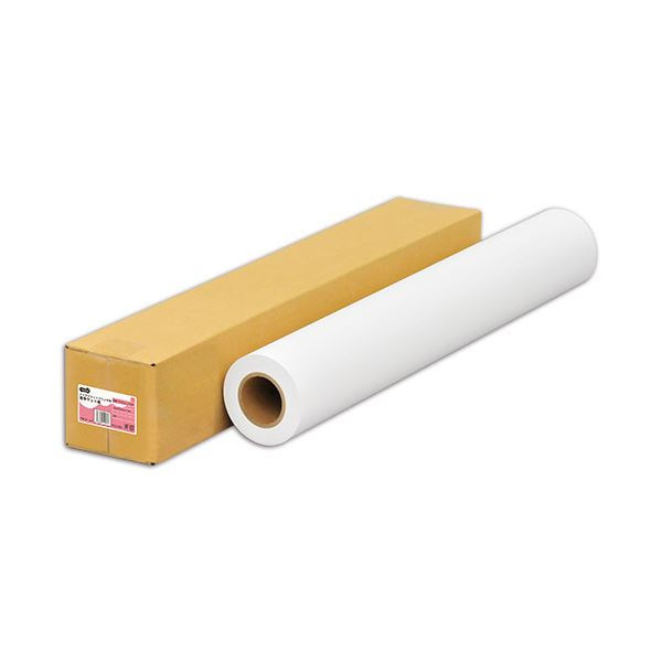 (まとめ) TANOSEEインクジェット用薄手マット紙 24インチロール 610mm×50m 1本 【×5セット】
