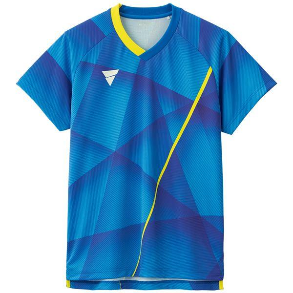 VICTAS(ヴィクタス) 卓球ゲームシャツ V-NGS200 男女兼用 ブルー M