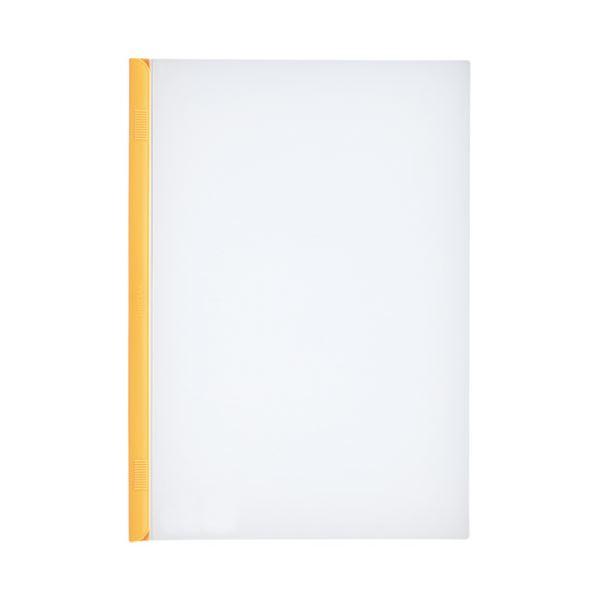【スーパーセールでポイント最大44倍】(まとめ)LIHITLAB スライドバーファイル G1720-5 黄 10冊【×30セット】