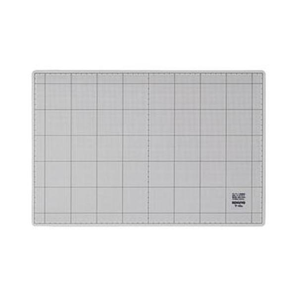(まとめ)コクヨ カッティングマット(両面仕様)300×450×3mm グレー マ-42M 1枚【×5セット】