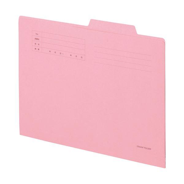 【スーパーセールでポイント最大44倍】(まとめ) TANOSEE 個別フォルダー A4 ピンク 1パック(10冊) 【×30セット】