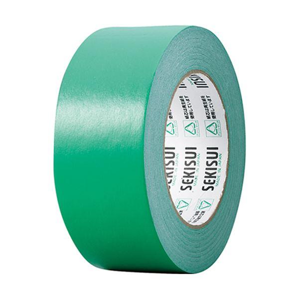 【スーパーセールでポイント最大44倍】(まとめ) 積水化学 カラークラフトテープ#500WC 50mm×50m 緑 K50WM13 1巻 【×30セット】