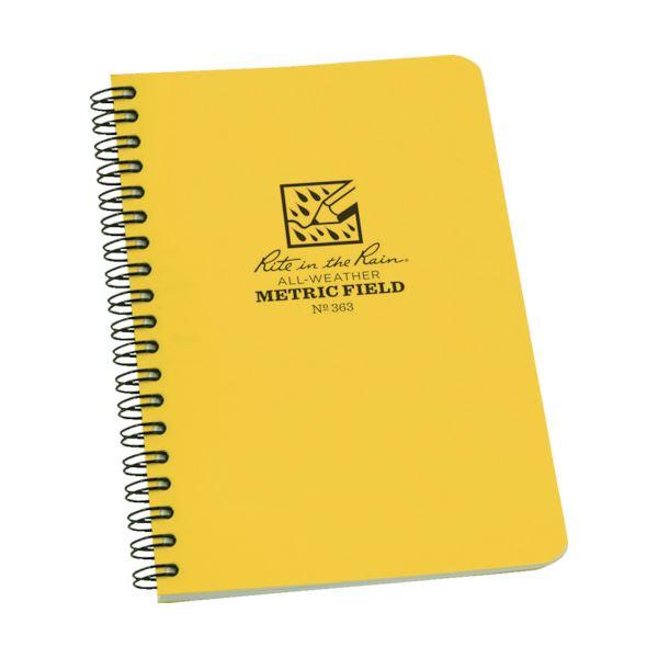 (まとめ) ライトインザレインスパイラルノートブック メトリック・フィールド 363 1冊 【×10セット】