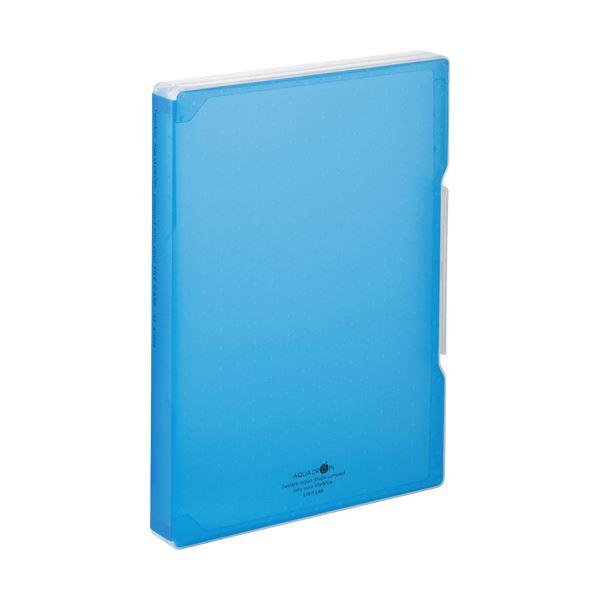 (まとめ) リヒトラブ AQUA DROPsファイルケース A4 270枚収容 背幅30mm 青 A-5029-8 1個 【×30セット】