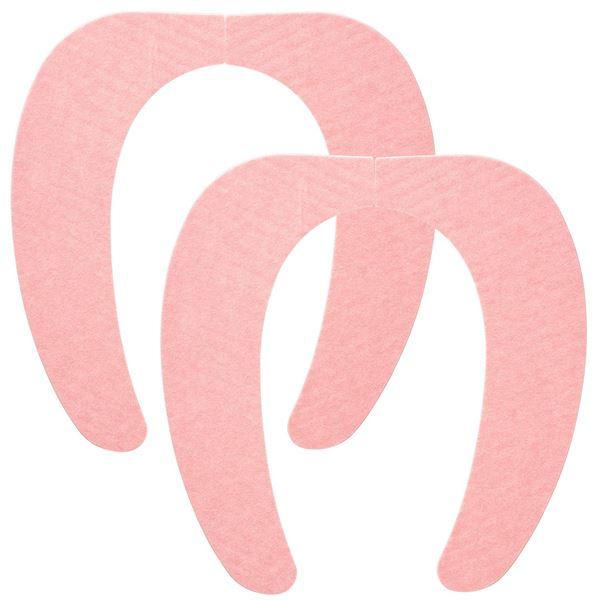 (まとめ) 便座シート/吸着べんざシート 【ピンク 2組入】 洗える トイレ用品 『レック ぴたQ』 【72個セット】