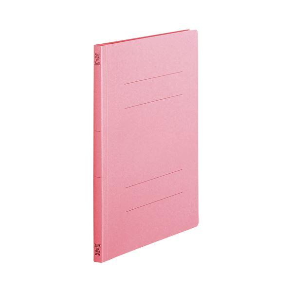 (まとめ) TANOSEE フラットファイル(スタンダードカラー) A4タテ 150枚収容 背幅18mm ピンク 1セット(100冊:10冊×10パック) 【×5セット】