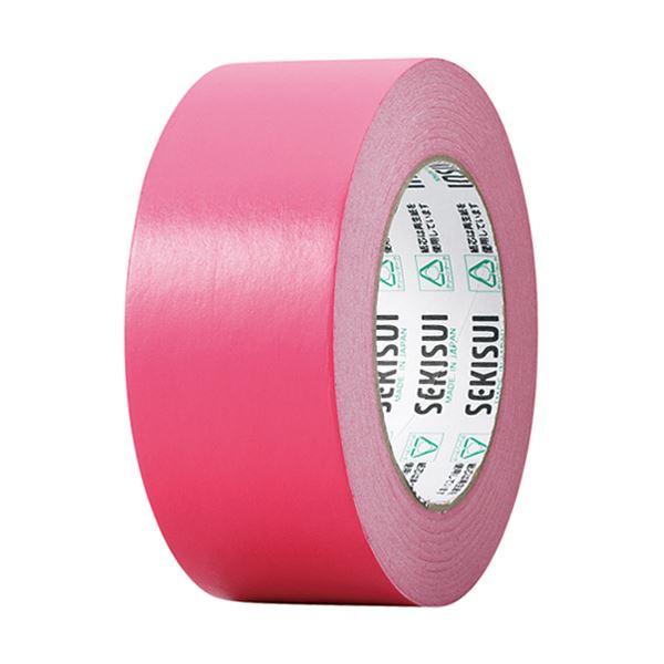 【スーパーセールでポイント最大44倍】(まとめ) 積水化学 カラークラフトテープ#500WC 50mm×50m 赤 K50WR13 1巻 【×30セット】