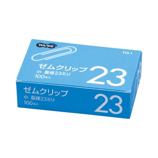 (まとめ) TANOSEE ゼムクリップ 小 23mm シルバー 1箱(100本) 【×300セット】