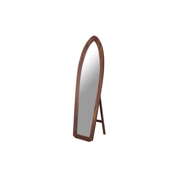 スタンドミラー/全身姿見鏡 【幅48cm】 木製 5mm飛散防止ミラー 『サーフミラー』 〔ベッドルーム 寝室 玄関 リビング〕【代引不可】