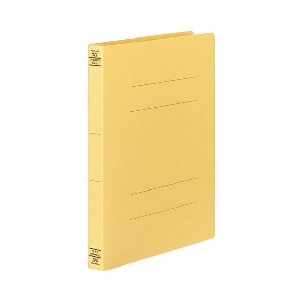 (まとめ) コクヨ フラットファイルW(厚とじ) A4タテ 250枚収容 背幅28mm 黄 フ-W10Y 1パック(10冊) 【×10セット】