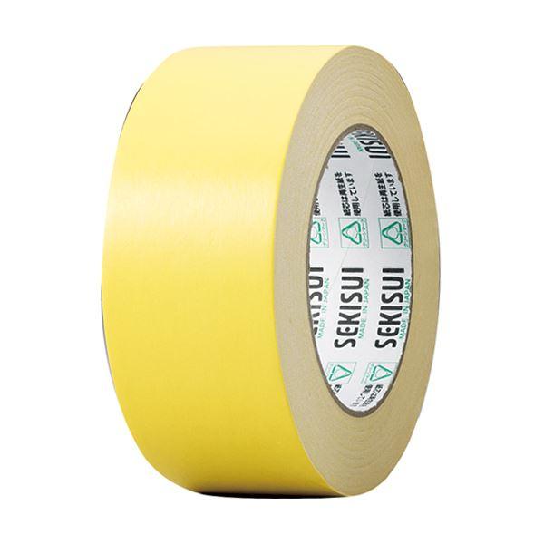 (まとめ) 積水化学 カラークラフトテープ#500WC 50mm×50m 黄 K50WY13 1巻 【×30セット】
