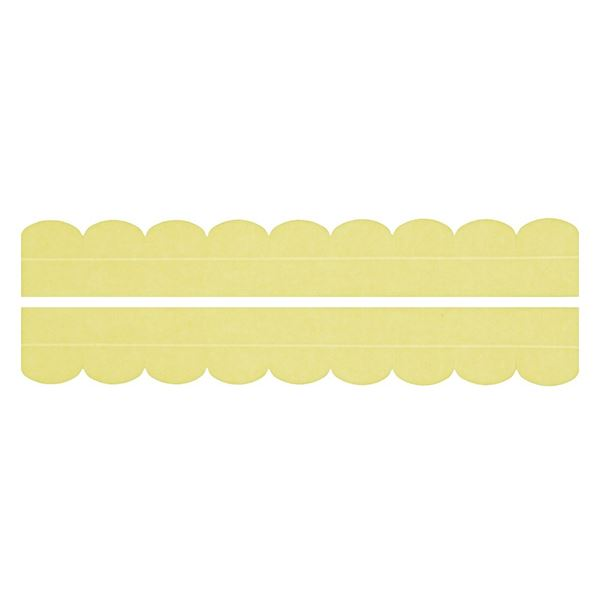 (まとめ) 便器すきまテープ/トイレ用品 【2枚入り イエロー】 カット可 簡単貼り付け・着脱 洗える 汚れ防止 【×200個セット】