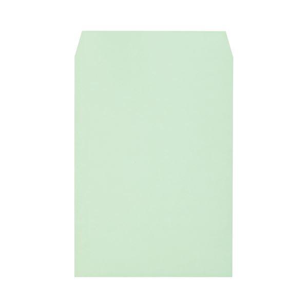 (まとめ) キングコーポレーション ソフトカラー封筒 角2 100g/m2 グリーン K2S100GE 1パック(100枚) 【×10セット】
