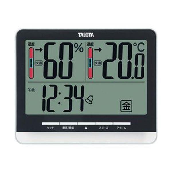 (まとめ)タニタ 温湿度計 ブラックTT-538BK 1個【×3セット】